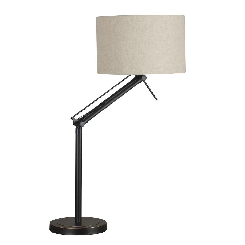 Kenroy Home Hydra 26-35 in. Oil-Rubbed Bronze Adjustable Table Lamp