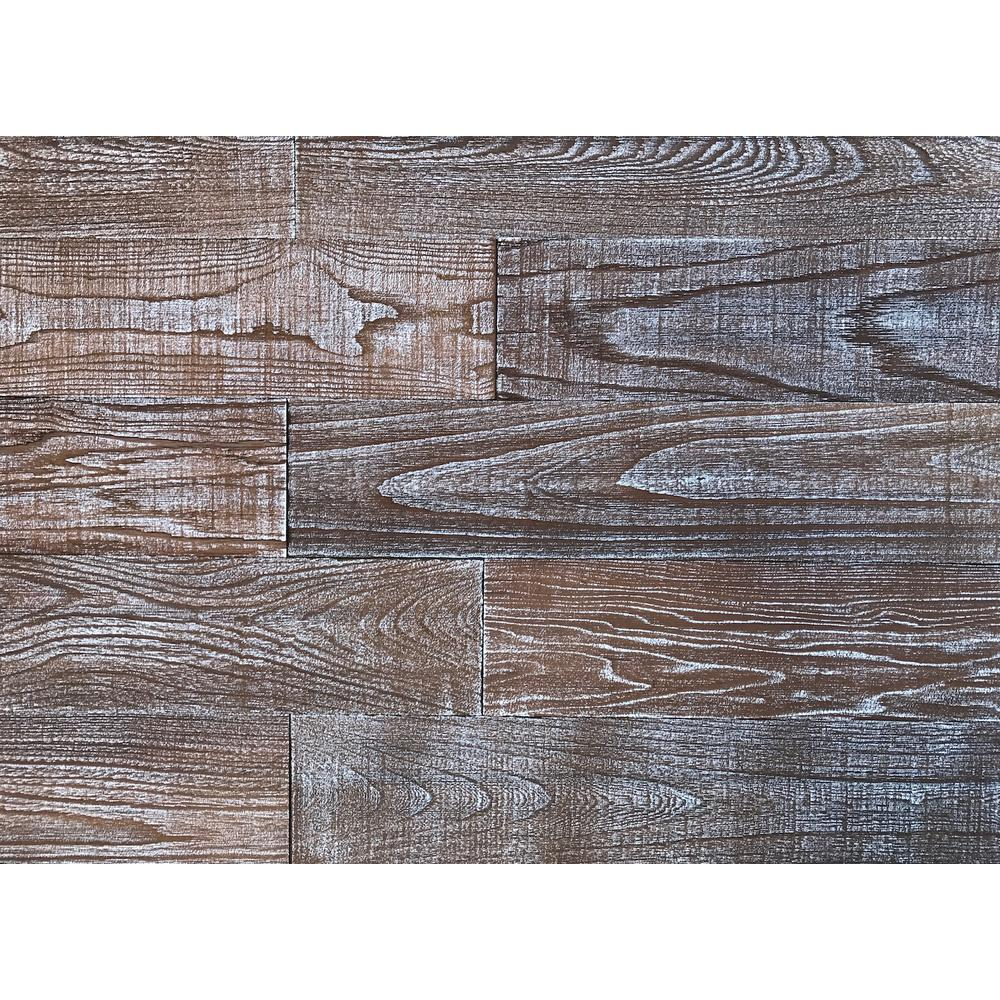 Easy Planking 3D Art Barn Wood 1/4 in. x 5 in. x 24 in. Reclaimed Wood Decorative Wall Planks in Whitewash Color (10 sq. ft. / Case)