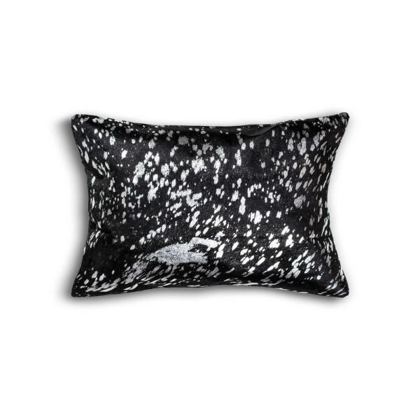 HomeRoots Josephine Black and Silver Solid Color 12 in. x 20 in