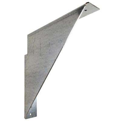 Jefferson 12 in. x 12 in. Gray Galvanized Steel Cabinet Hanger Left