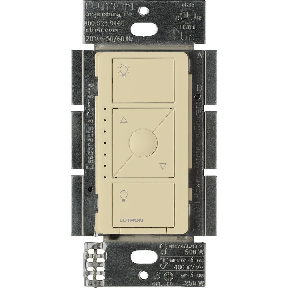 Caseta Wireless Smart Lighting Dimmer Switch for ELV+ Bulbs, Ivory