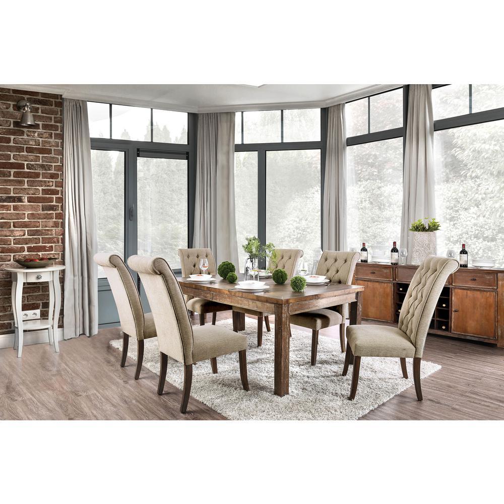 Sania I Rustic Oak Rustic Style Dining Table