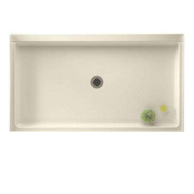 Veritek 32 in. x 60 in. Single Threshold Center Drain Shower Pan in Bone
