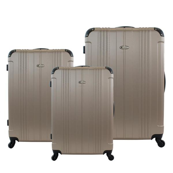 Chariot Dumont 3-Piece Hardside Spinner Luggage Set DM-31 CHAMPAGNE