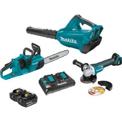 18-Volt 5.0 Ah X2 LXT Lithium-Ion Brushless Cordless Kit (2-Piece) and 4-1/2 in. Cut-Off/Angle Grinder Combo Kit