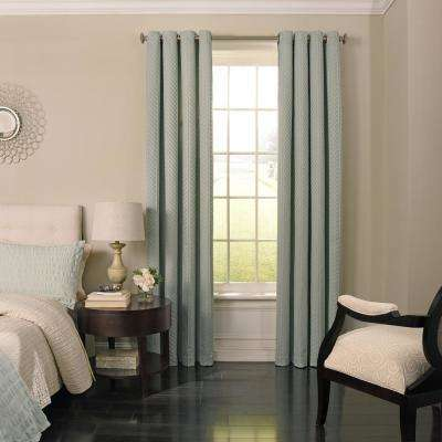 Malbrouk Blackout Window Curtain Panel in Spa - 52 in. W x 95 in. L