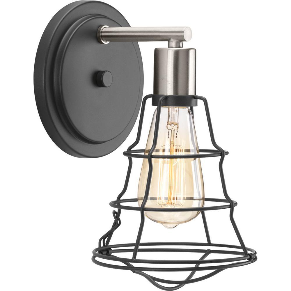 Gauge Collection 1 -Light Graphite Bathroom Vanity Light