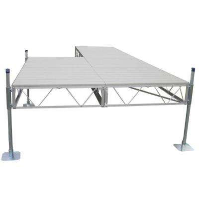 32 ft. Patio Dock with Gray Aluminum Decking