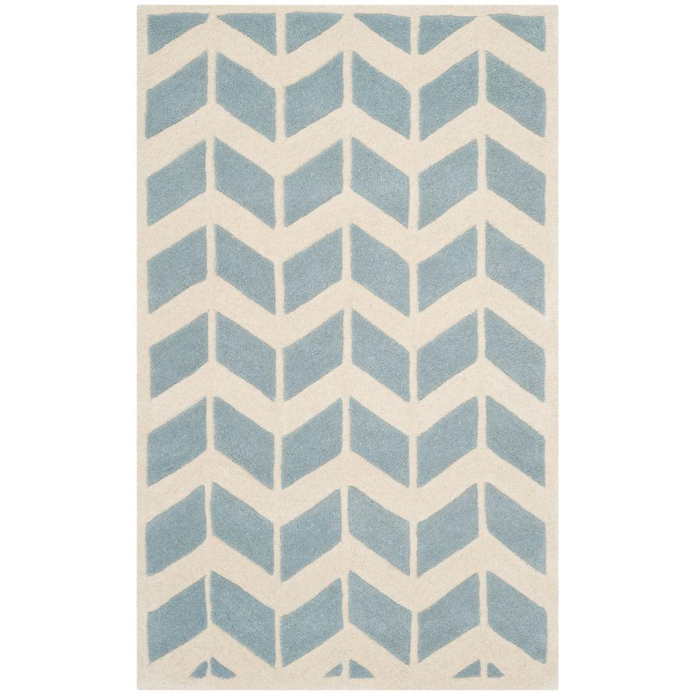 Safavieh Chatham Blue/Ivory 4 ft. x 6 ft. Area Rug