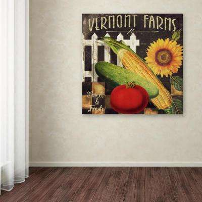 """35 in. x 35 in. """"Vermont Farms VII"""" by Color Bakery Printed Canvas Wall Art"""