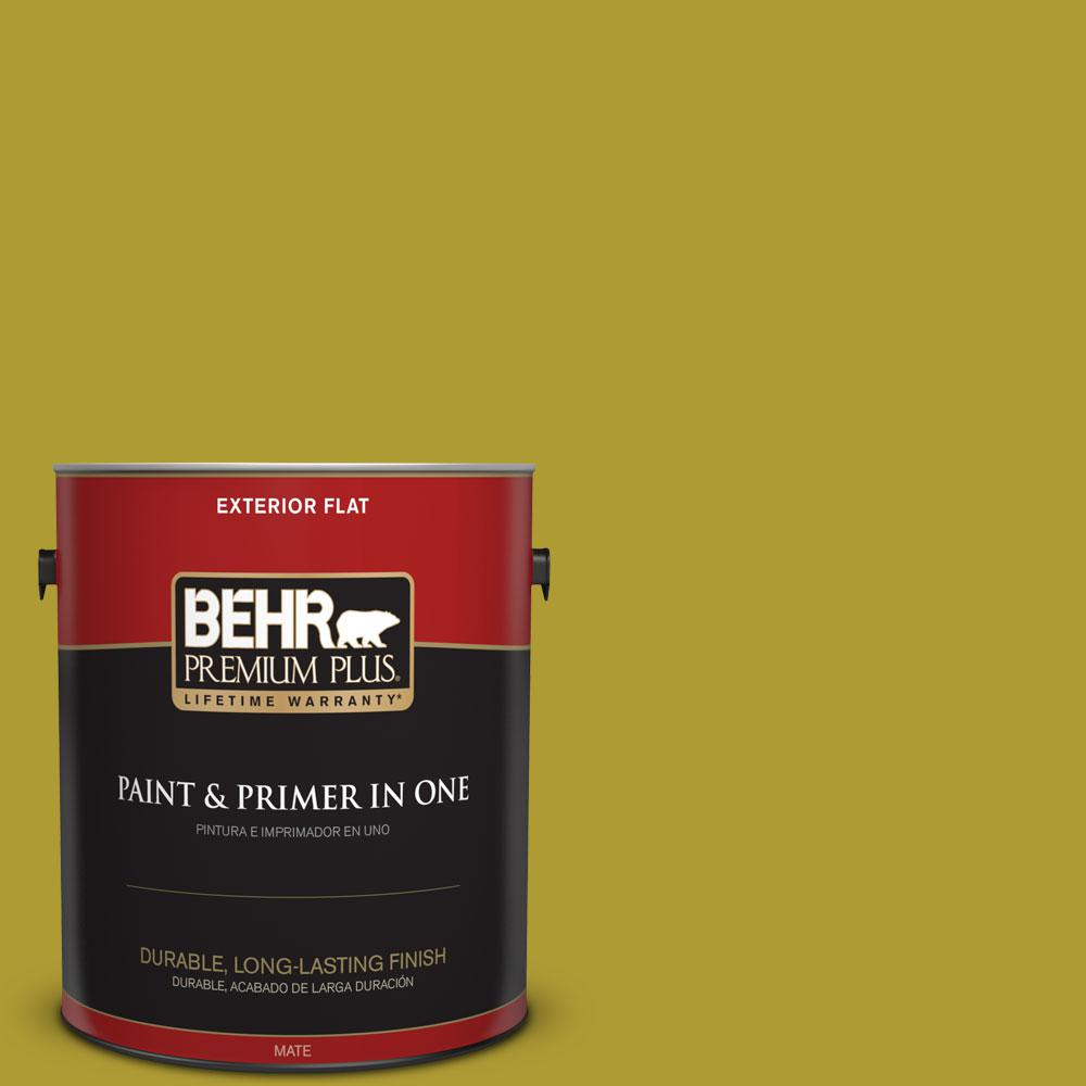 1-gal. #P330-7 Luscious Lime Flat Exterior Paint