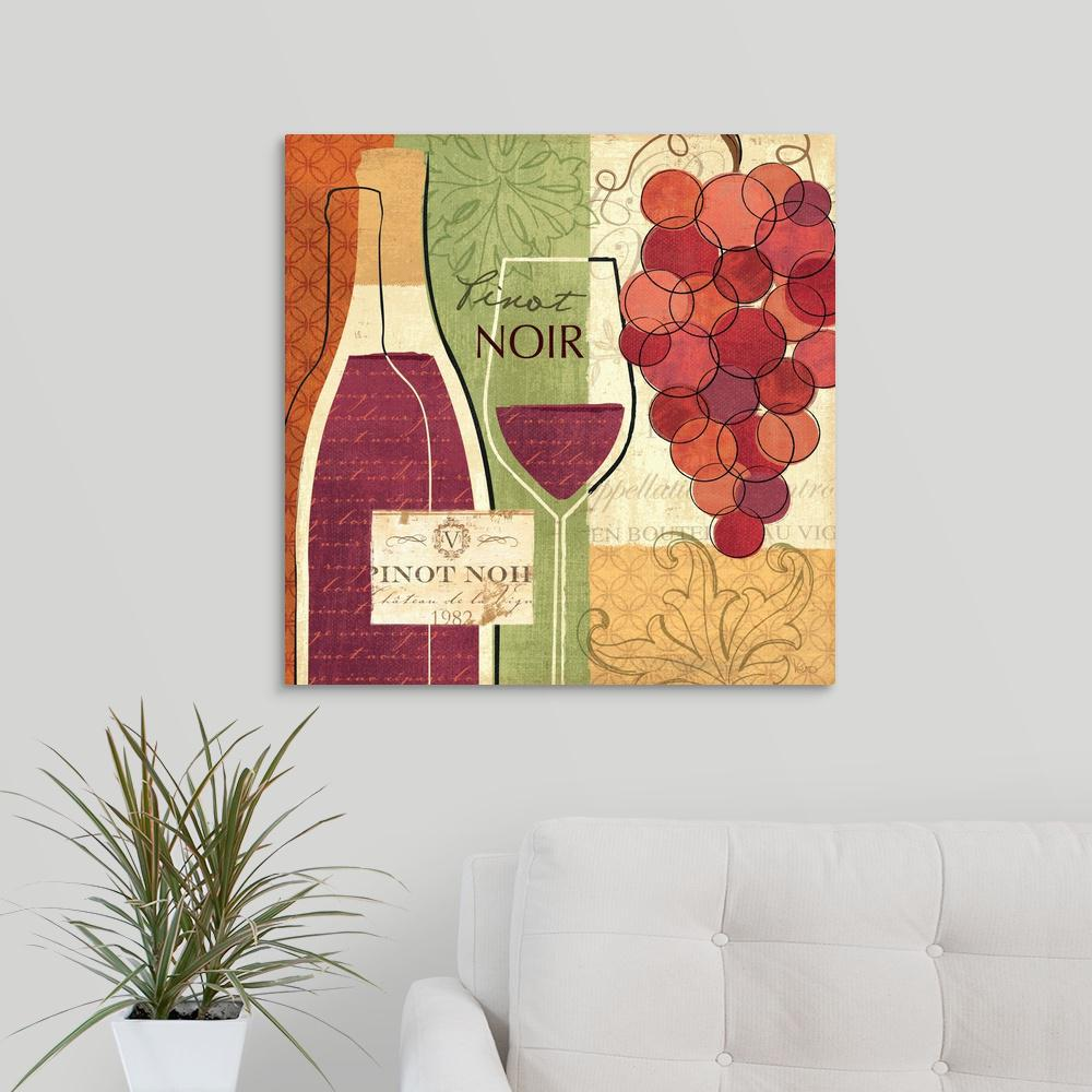 Greatbigcanvas Wine And Grapes I By Veronique Charron Canvas Wall