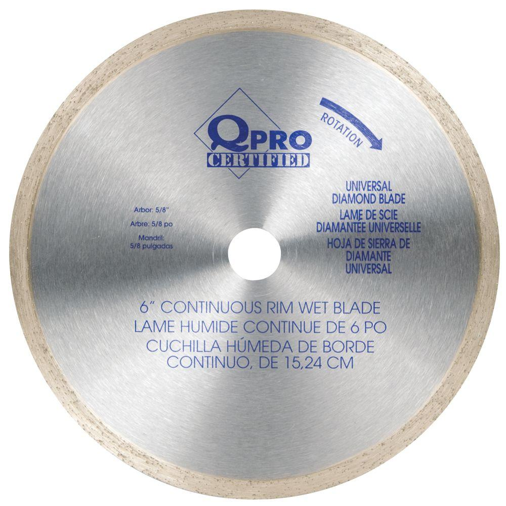 QEP 6 in. Diamond Blade for Cutting Ceramic Tiles-DISCONTINUED