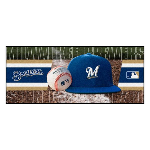 Milwaukee Brewers 3 ft. x 6 ft. Baseball Runner Rug