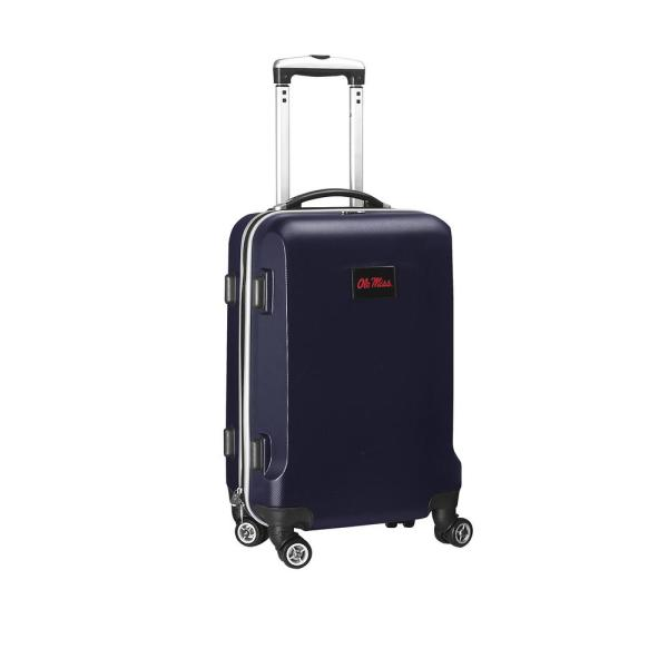 Denco NCAA Mississippi 21 in. Navy Carry-On Hardcase Spinner Suitcase