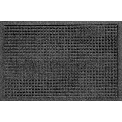 Aqua Shield Squares Charcoal 17.5 in. x 26.5 in. Door Mat