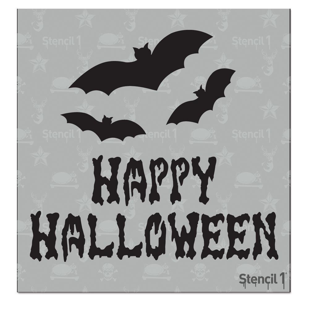 Happy Halloween Small Stencil