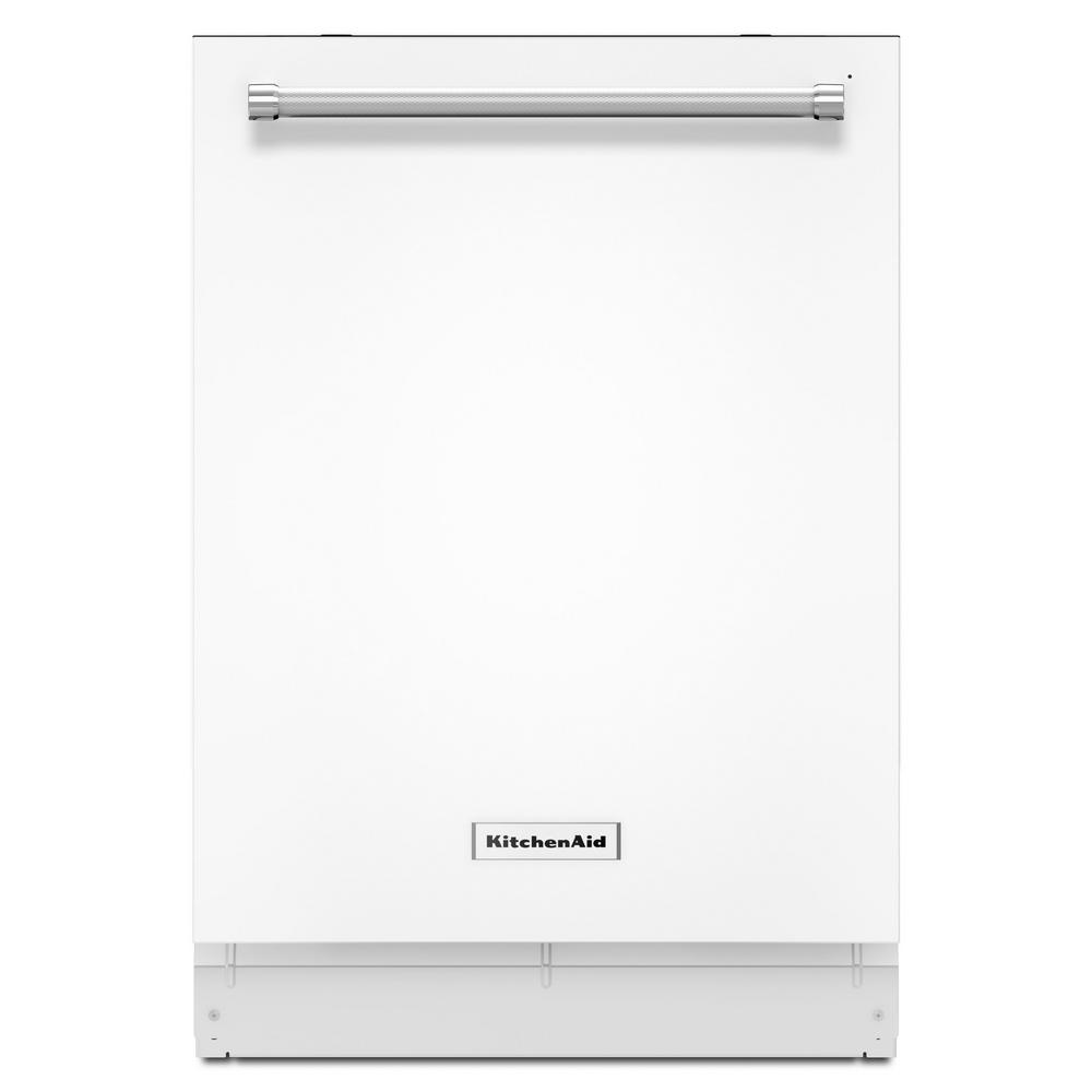 KitchenAid Top Control Built-In Tall Tub Dishwasher in White with Third  Level Rack, 46 dBA