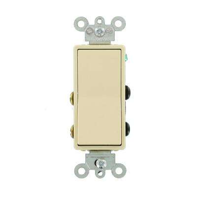 15 Amp Decora Residential Grade 4-Way Lighted Rocker Switch, Ivory