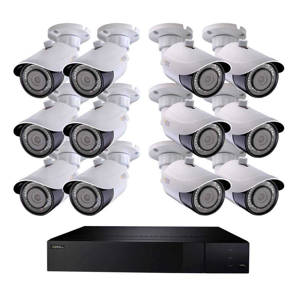 32-Channel 4K 3TB H.265 NVR Security Surveillance System with (12) 8MP