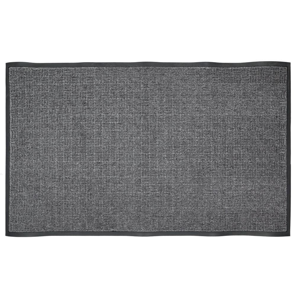 Charming Charcoal Rubber Commercial Door Mat 482893   The Home Depot