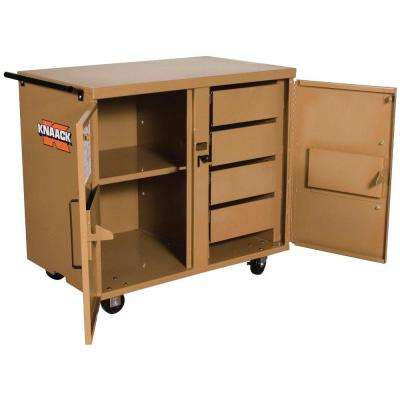 44 in. 4-Drawer Rolling Work Bench