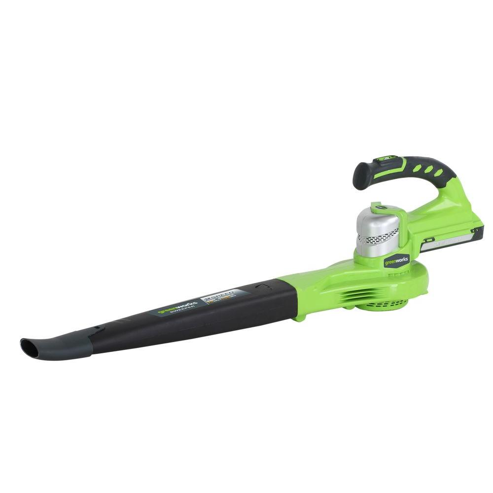 Green Works 24-Volt Lithium-ion 130 mph 250 CFM Cordless Electric Blower-DISCONTINUED