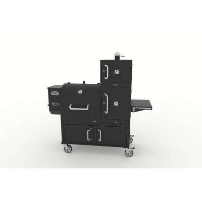 Champion Pro Wood Pellet Grill and Smoker in Black with Cover Included