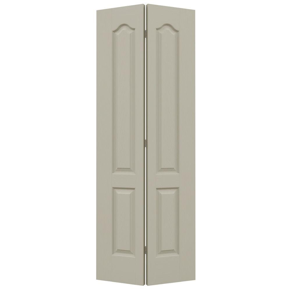 32 in. x 80 in. Camden Desert Sand Painted Textured Molded