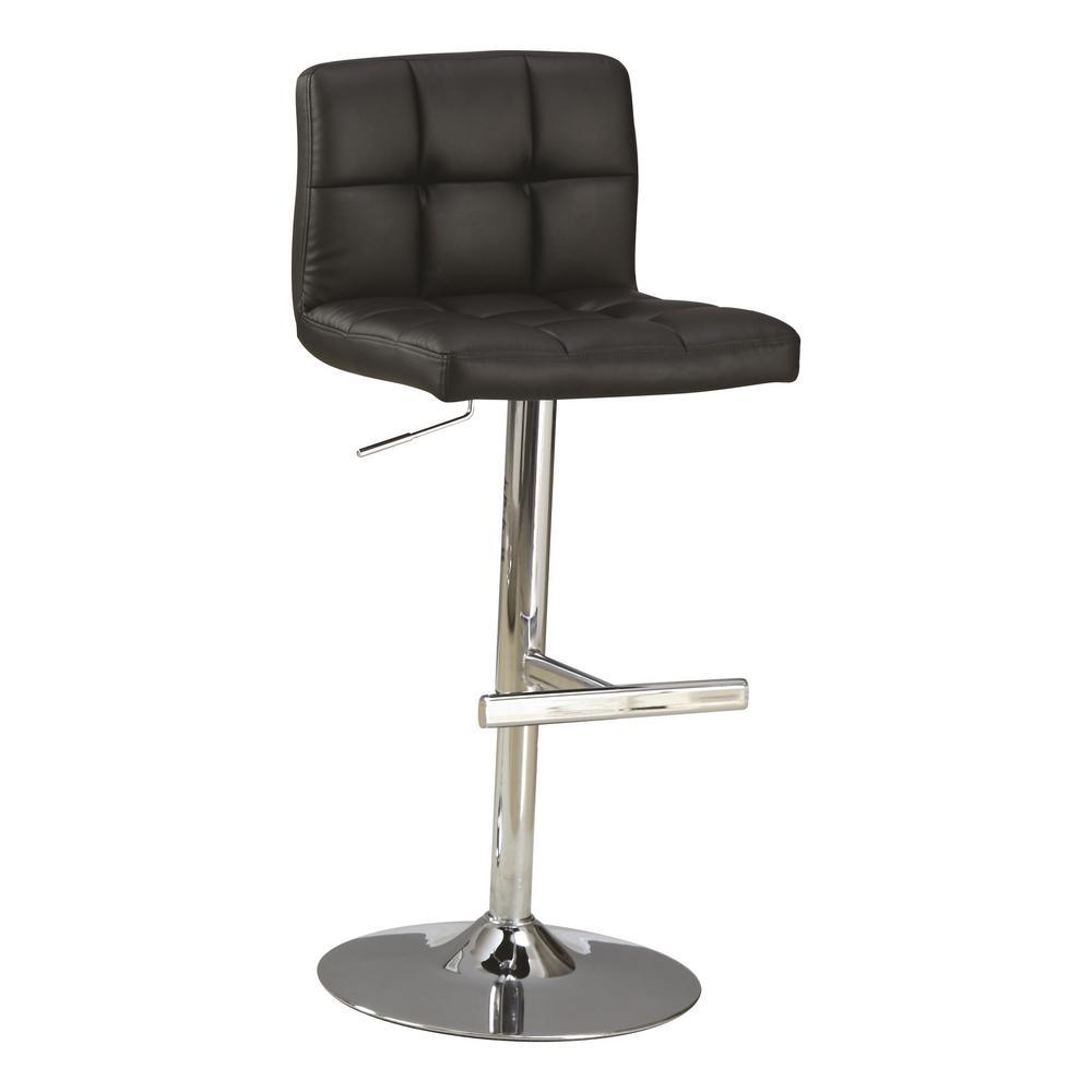 Coaster Furniture Adjustable Height Black/Chrome Bar Stoo...
