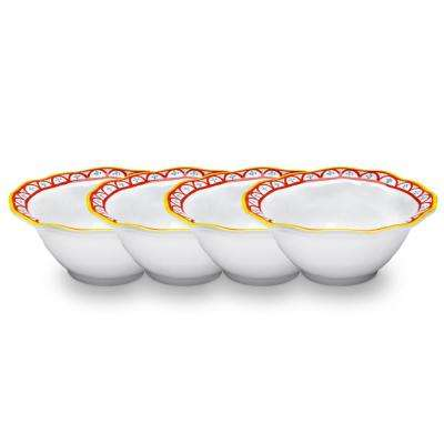 Porto Chal 4-Piece Assorted Colors Melamine Cereal Bowl Set
