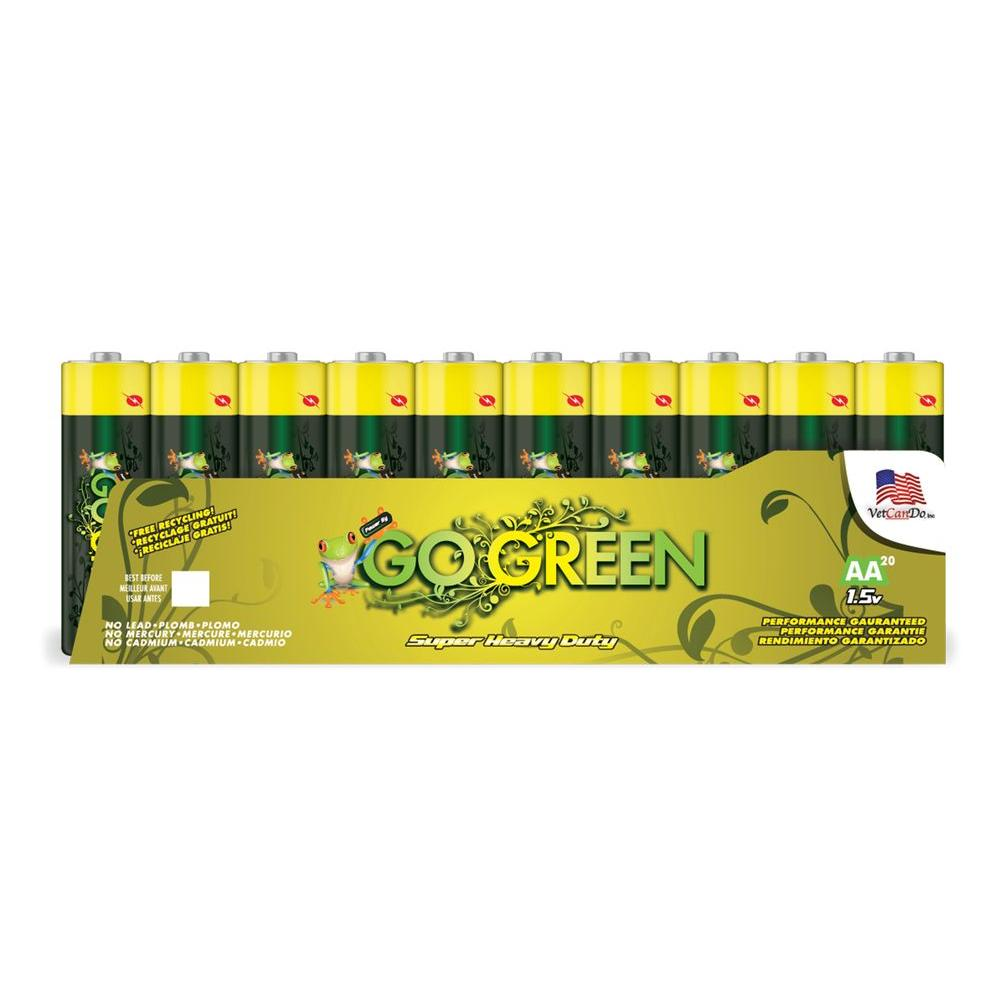 By Go Green Super Heavy Duty Aa Battery 20 Per Pack