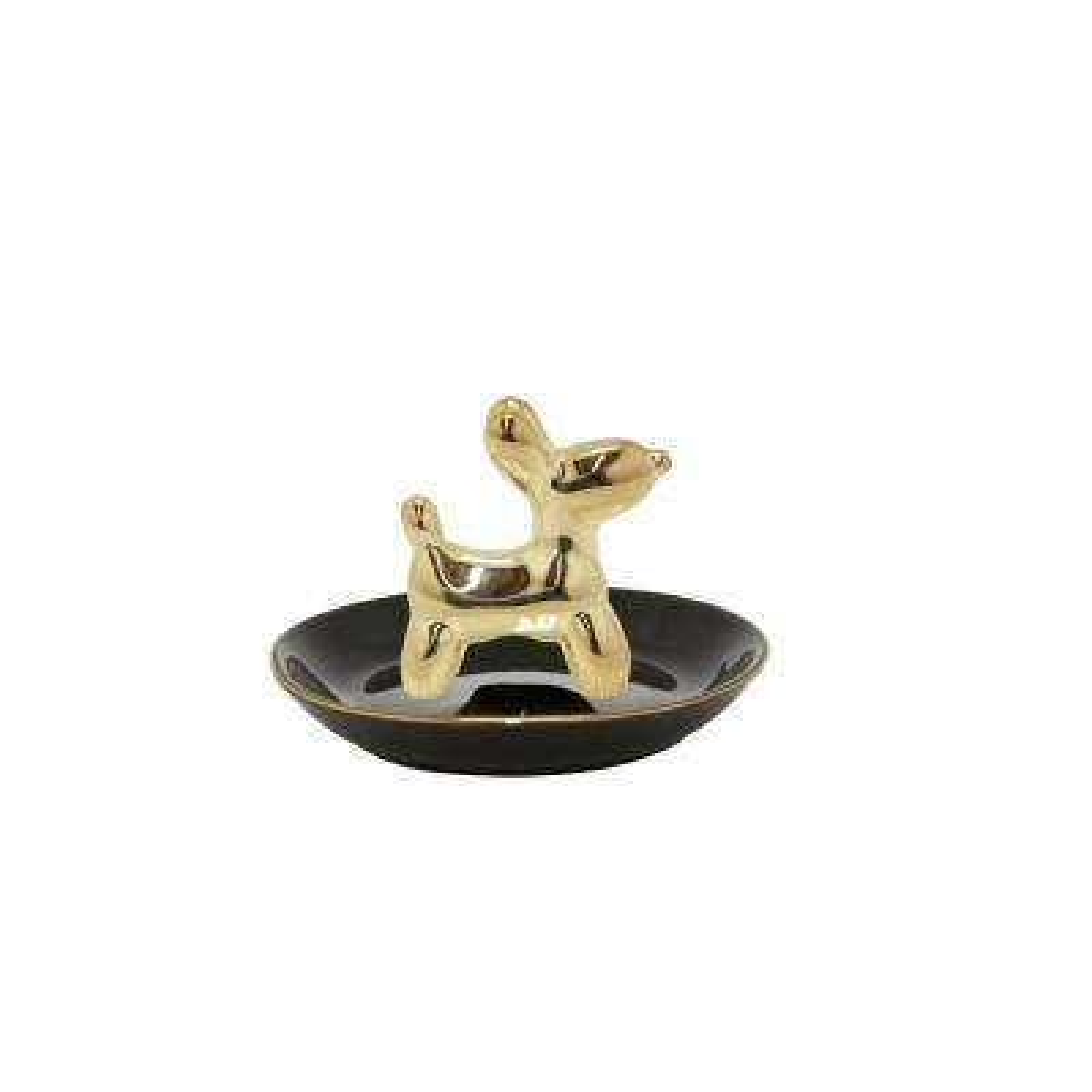 Black Baloon Dog Jewelry Holder