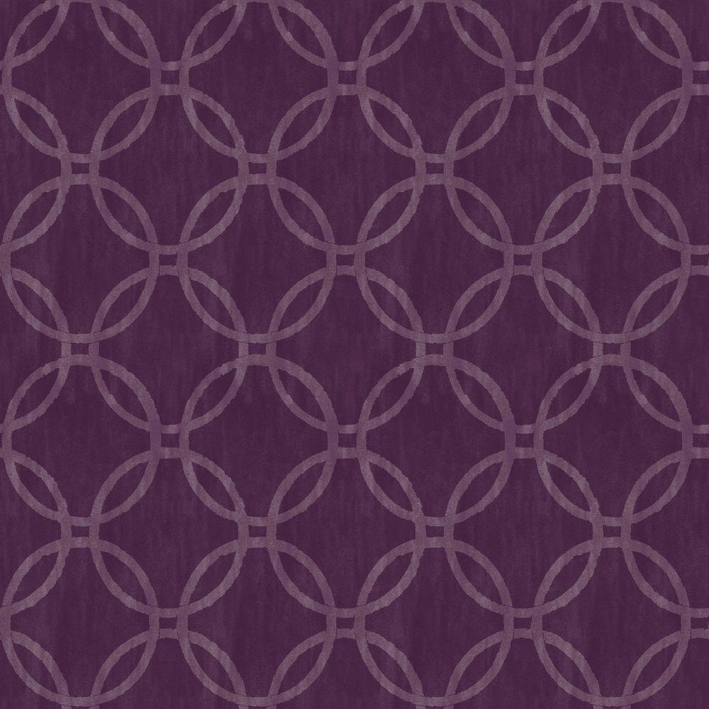 Beacon House Ecliptic Purple Geometric Wallpaper Sample