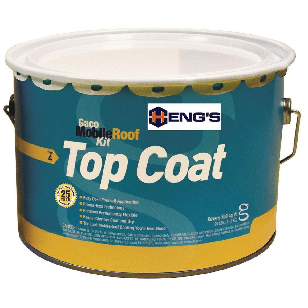 Gaco Silicone Top Coat White