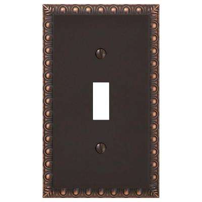 Antiquity 1 Toggle Wall Plate - Aged Bronze Cast