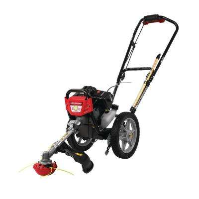 17 in. 43cc Gas Walk Behind Wheeled String Trimmer Mower