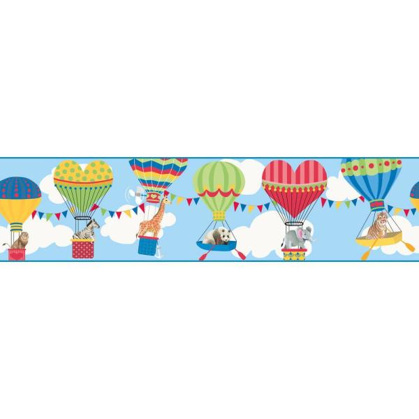 York Wallcoverings Growing Up Kids Lighter Than Air Removable Wallpaper Border