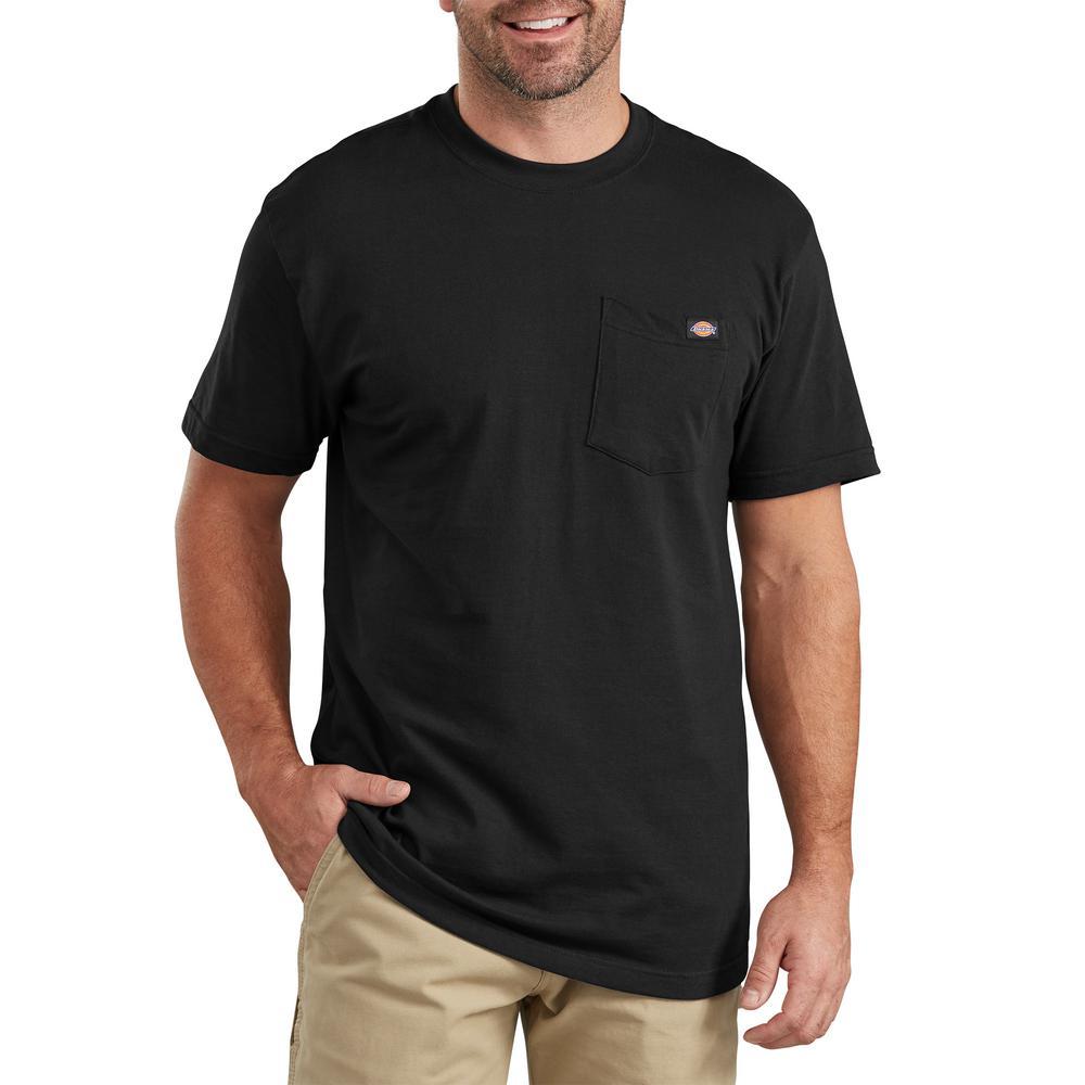 Nuovi Prodotti eccezionale gamma di colori sito autorizzato Dickies Men's Black Short Sleeve Pocket Tee-WS436BK LT - The Home ...