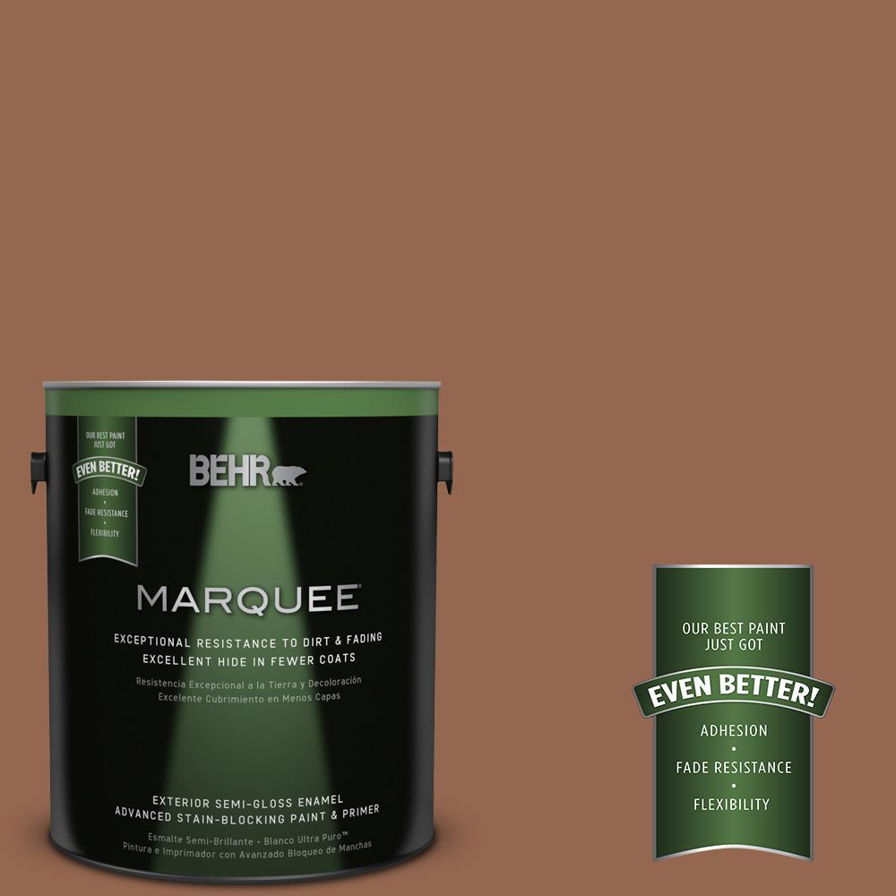 BEHR MARQUEE 1-gal. #240F-6 Sable Brown Semi-Gloss Enamel Exterior Paint