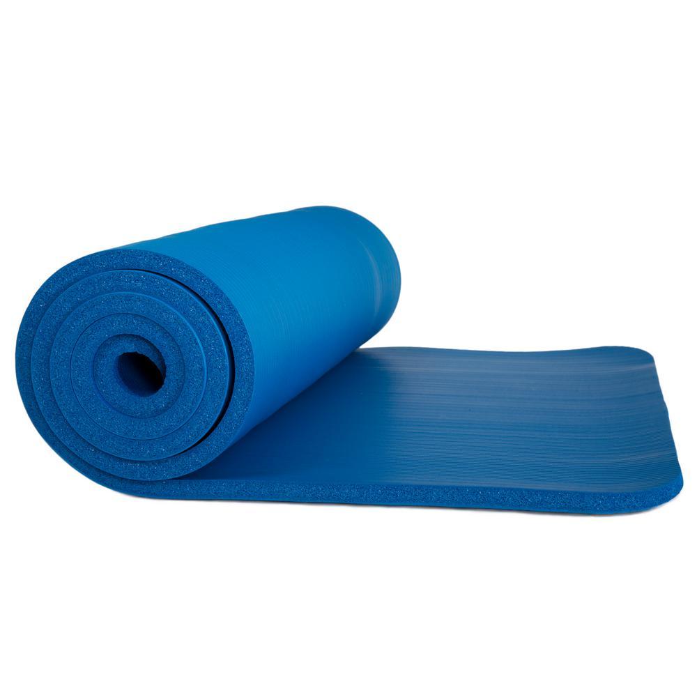 Wakeman 72 in. Non-Slip Luxury Foam Dark Blue Camping Sleep Mat