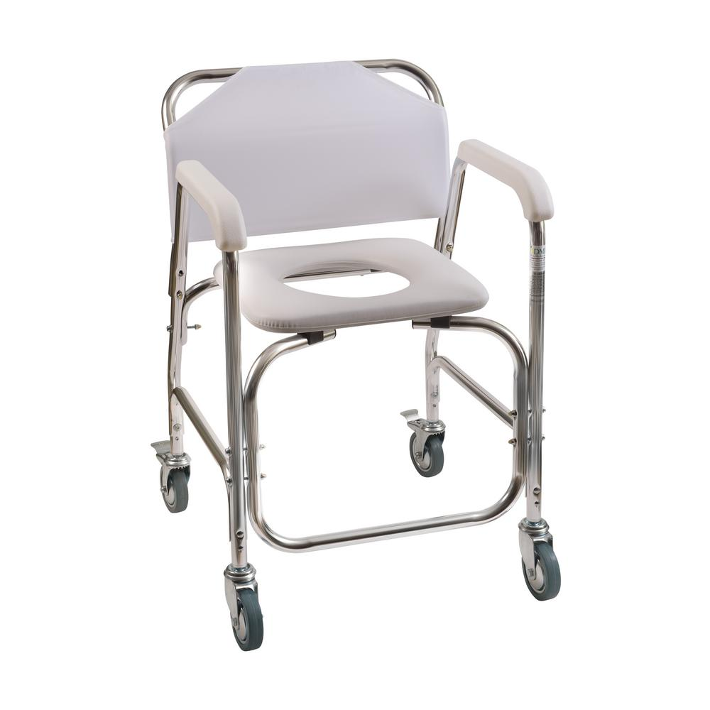 Shower Transport Chair in White-522-1702-1900 - The Home Depot