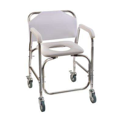 Shower Transport Chair in White