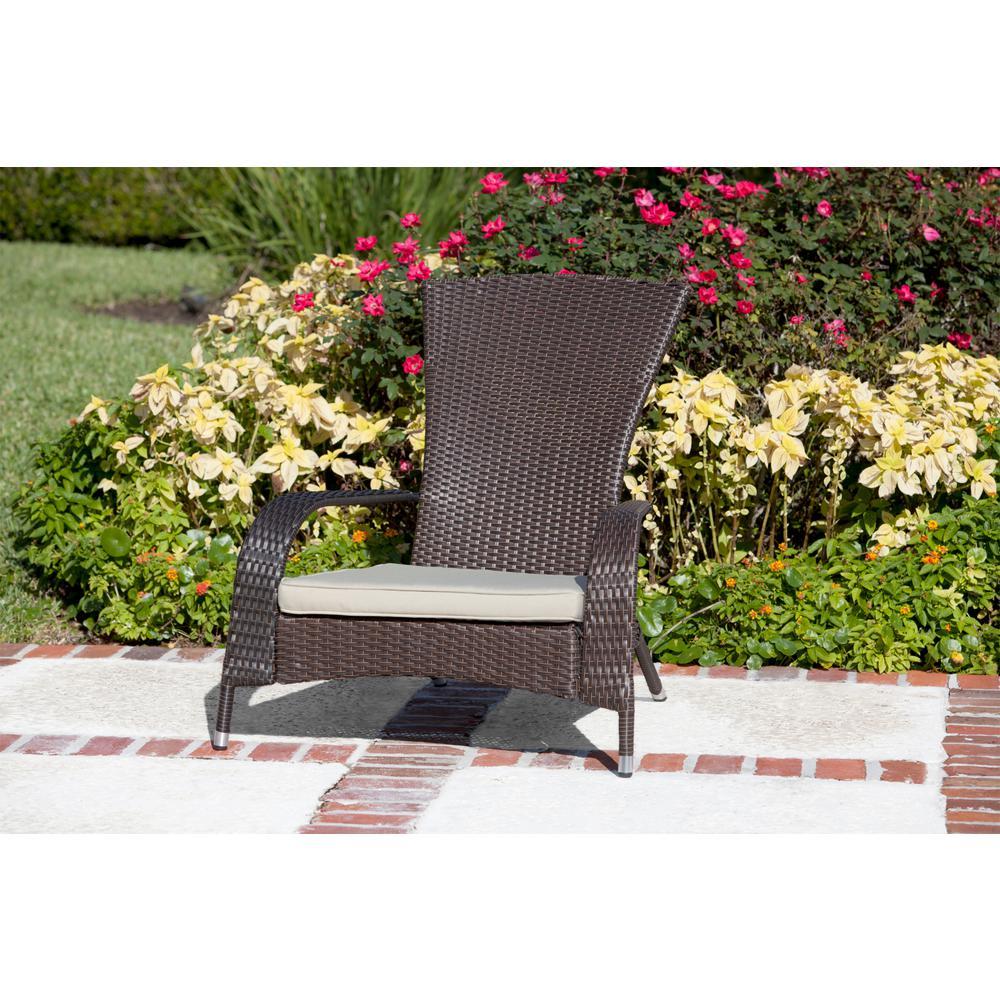 Lounge Mocha Wicker Chair Outdoor Patio Porch Garden