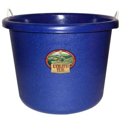 17.5 Gal. Bucket Utility Tub For Maintenance Cleaning Growing and More Cobalt Blue