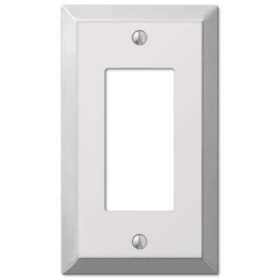 Metallic 1 Rocker Wall Plate - Polished Chrome Steel