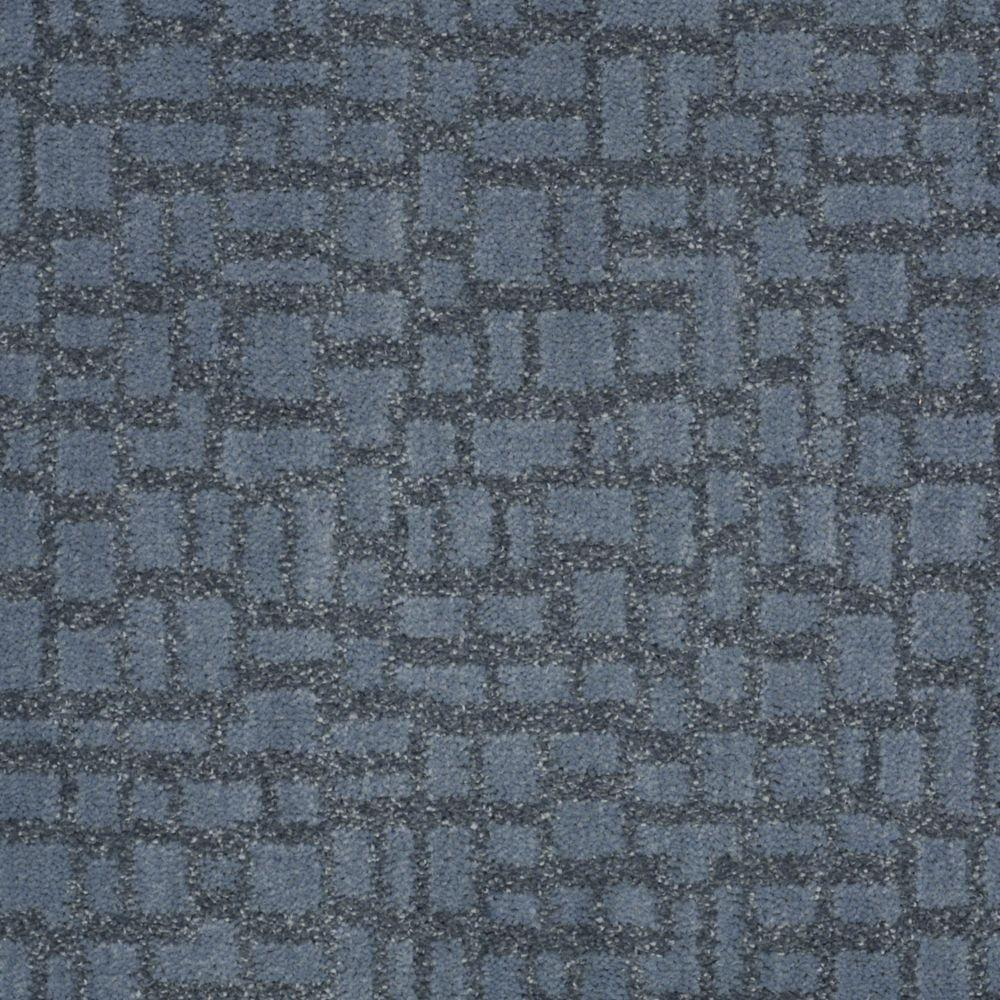 Martha Stewart Living Mount Brayburn - Color Mariner 6 in. x 9 in. Take Home Carpet Sample-DISCONTINUED