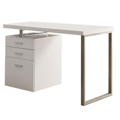 48 in. L White Hollow-Core Left or Right Facing Desk