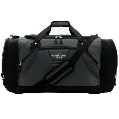 28 in. Silver Multi-Pocket Sport Duffel