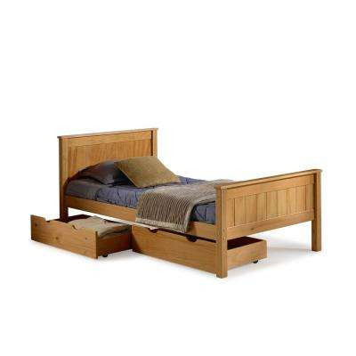 Harmony Cinnamon Twin Bed with Storage Drawers